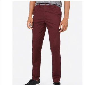 Express Skinny Chambray Trim 365 Chino Pants